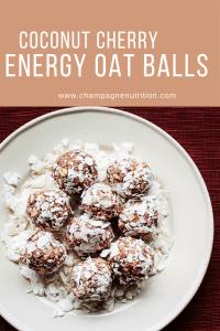Coconut Cherry Energy Oat Balls