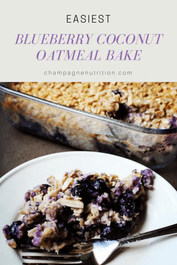 Easiest Blueberry Coconut Oatmeal Bake