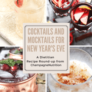 Cocktails and Mocktails for New Year's Eve Dietitian Round-up