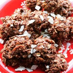 No Bake Vegan Chocolate Haystack Cookie Bites