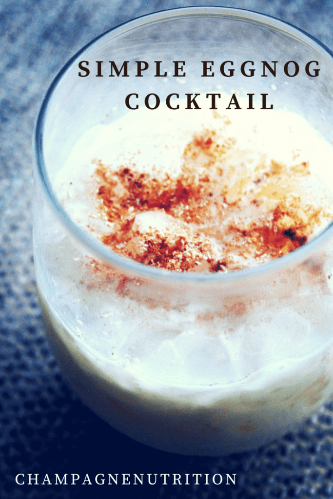 Simple Eggnog Cocktail