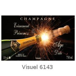 Champagne Personnalise Pour Noel Et Rveillon Du Nouvel An