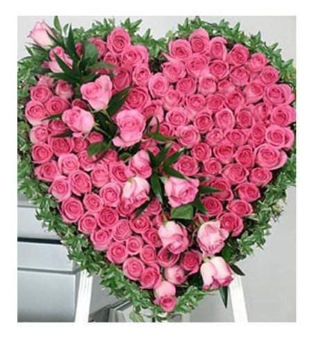 CF Pink Heart Arrangement