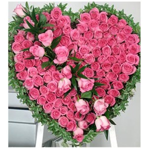CF Pink Heart Arrangement