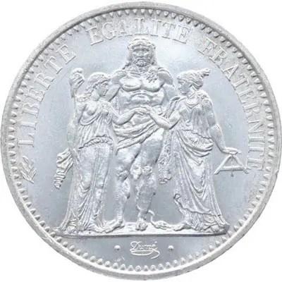 Côté face de la pièce en argent 10 Francs Hercule