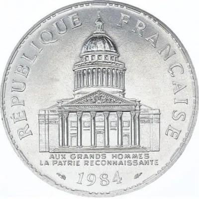 Côté face de la pièce en argent 100 Francs