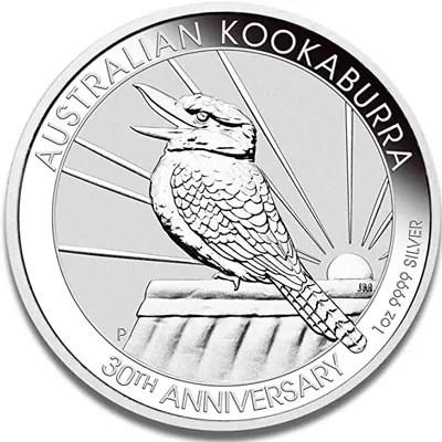 "Côté face de la pièce en argent ""Kookaburra"" de 1Oz"