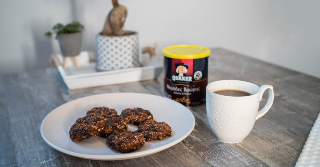 Chocolate cookies with Quaker Oats