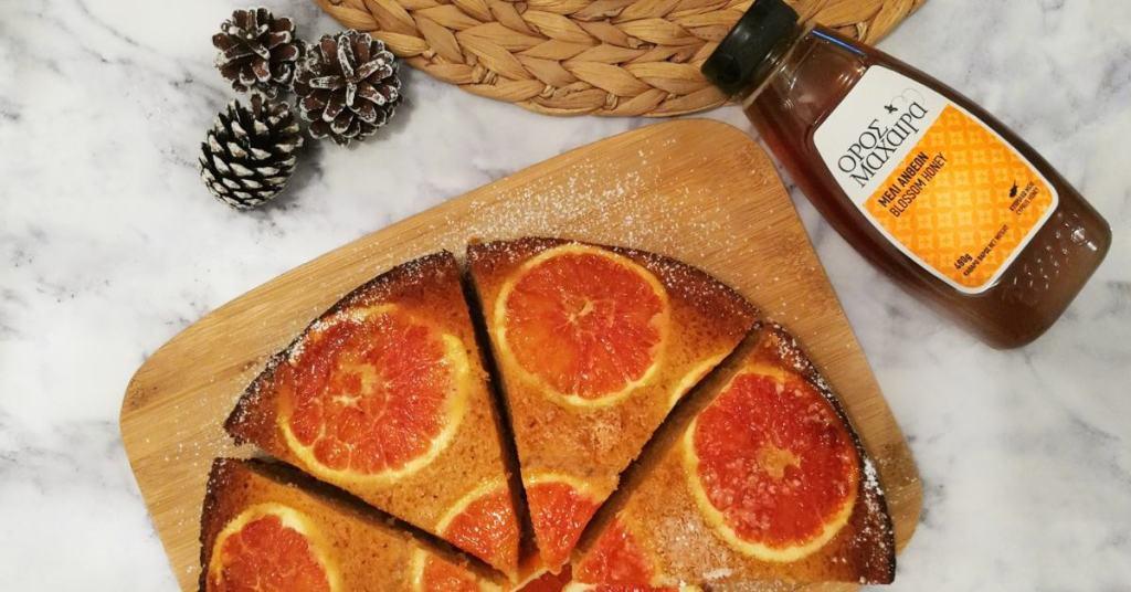 Κέικ πορτοκάλι με Μέλι Όρος Μαχαιρά