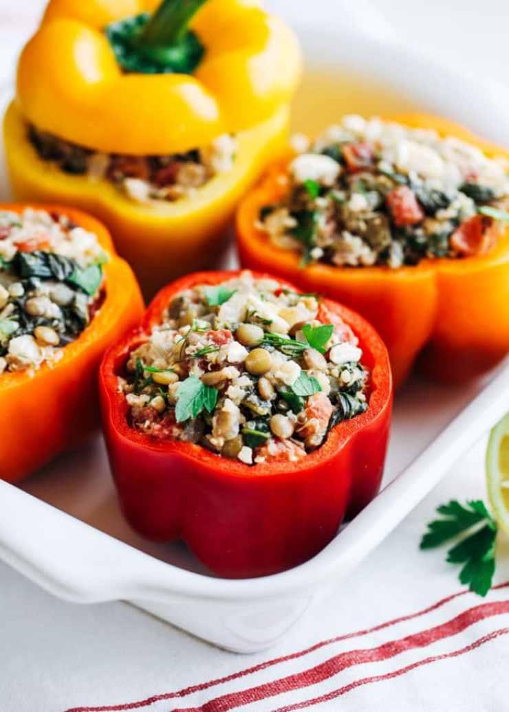 Mediterranean Quinoa Stuffed Peppers