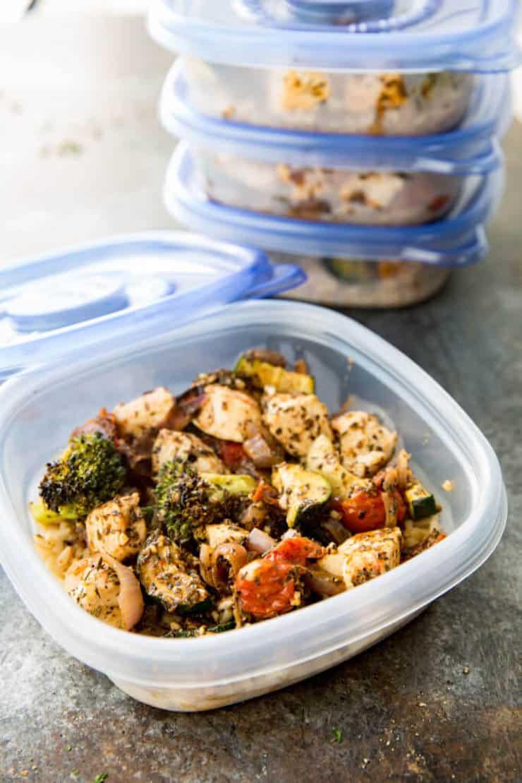 Italian Chicken Meal Prep Bowls