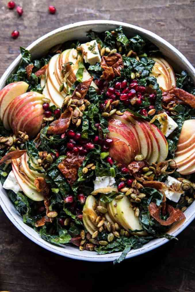fall apple and kale salad