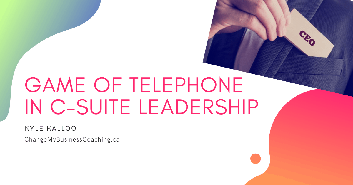 Blog for C-Suite Leader communication.