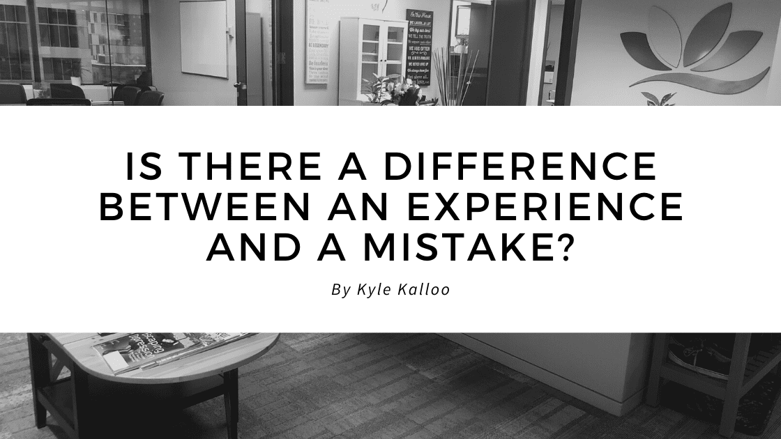 CMBC Blog: Is There a Difference Between an Experience and a Mistake? | Change My Business Coaching blog