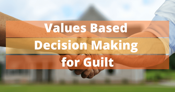 Values Based Decision Making for Guilt