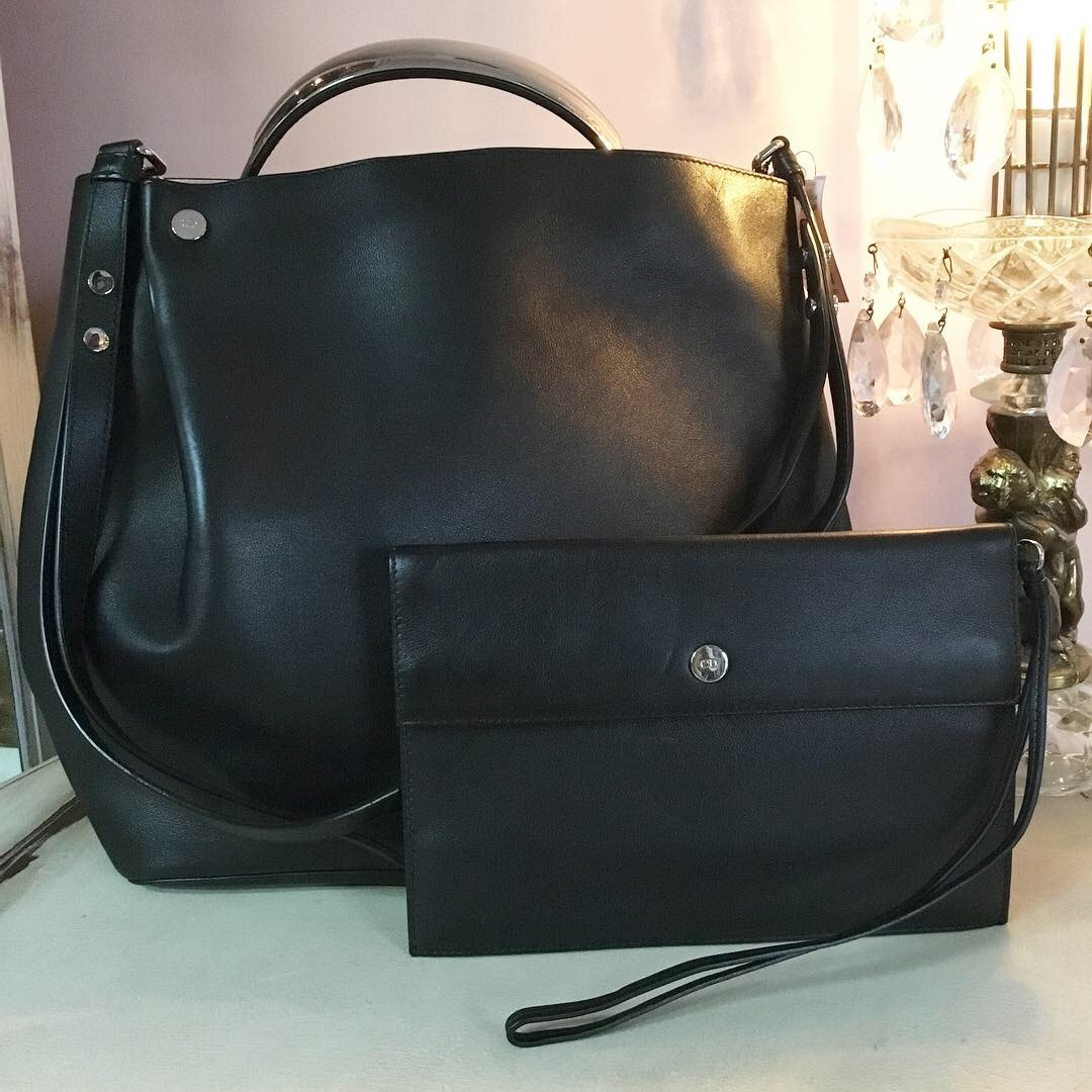 fa55a352e6d Shop. Home / Shop / Women / BAGS & WALLETS / Christian Dior Diorific black  leather bucket ...