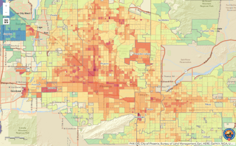 Interactive Shade Map for Arizona - Department of Forestry and Fire Managment