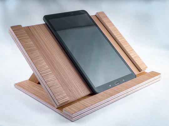 support de tablette en bois