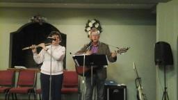 Steve and Jena Fellers leading worship.