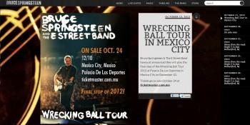 Bruce Springsteen en México.
