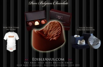 Chocolate con forma de ano