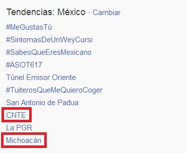 Twitter CNTE Michoacán
