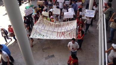 """Photo of Morelia: Jóvenes de la Michoacana protestan """"¡La gratuidad es posible!"""""""