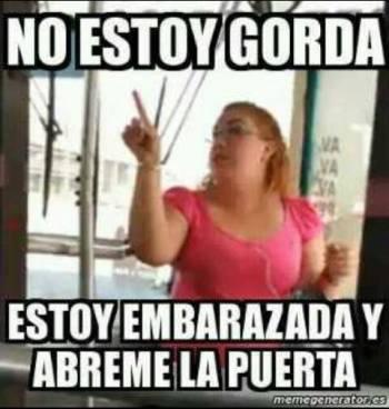 meme video gorda embarazada camión