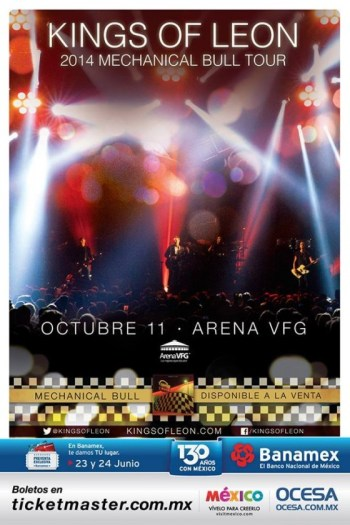 Kings Of Leon en Guadalajara 2014