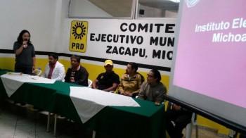 comité reunión PRD Michoacán