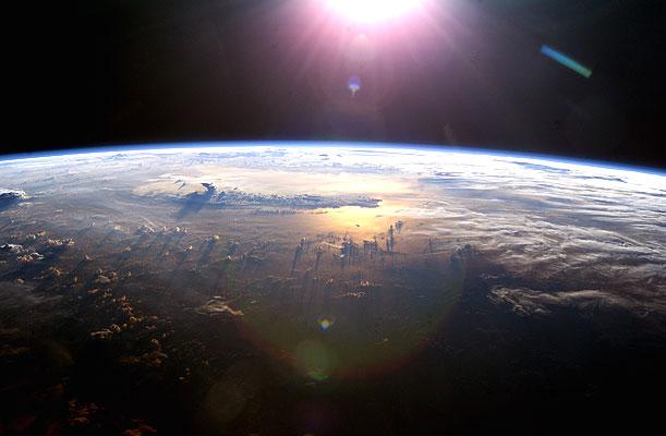 vista espacial la tierra