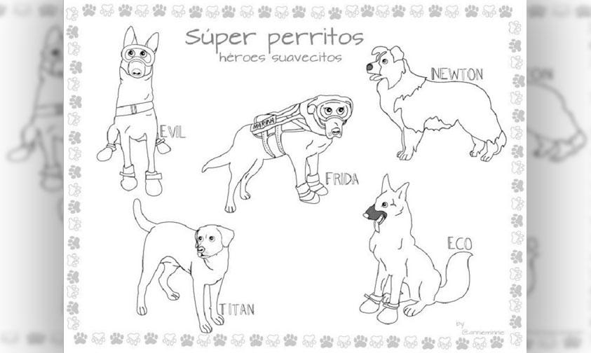 ¡Coloreando A Perritos Rescatistas! Difunden Iniciativa Para Aliviar El Estrés De Niños