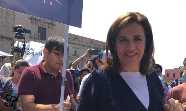Margarita Zavala Morelia rechazan