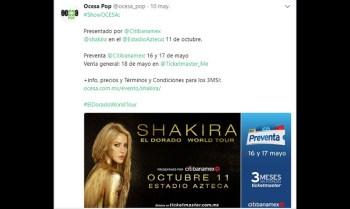Shakira México concierto