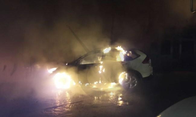 camioneta incendio Lázaro Cárdenas a