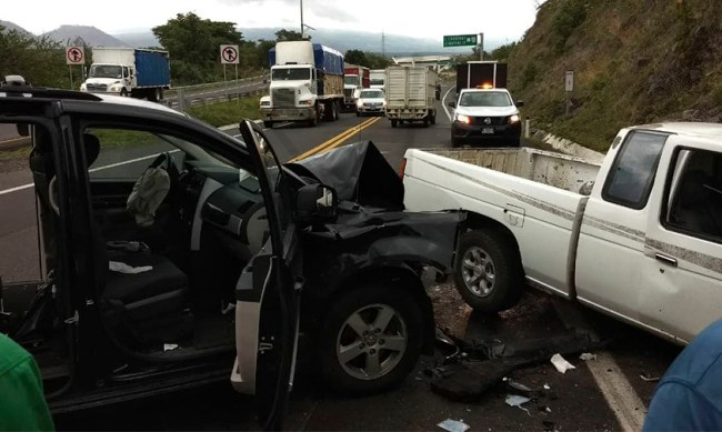 accidente Uruapan auto