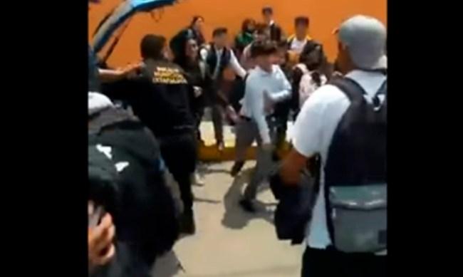 policías Ixtapaluca estudiantes