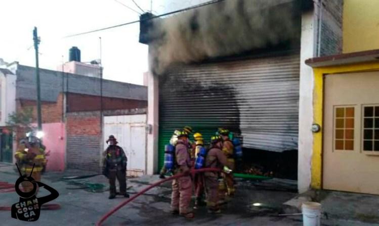 incendio Bodega Madera Morelia