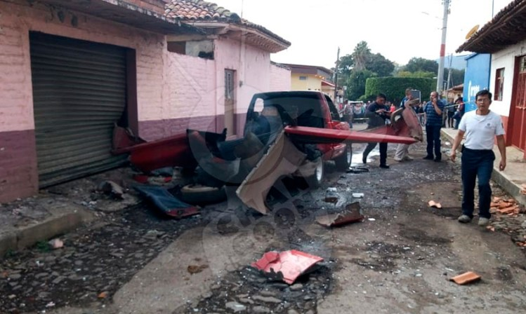 camioneta pirotecnia Michoacán