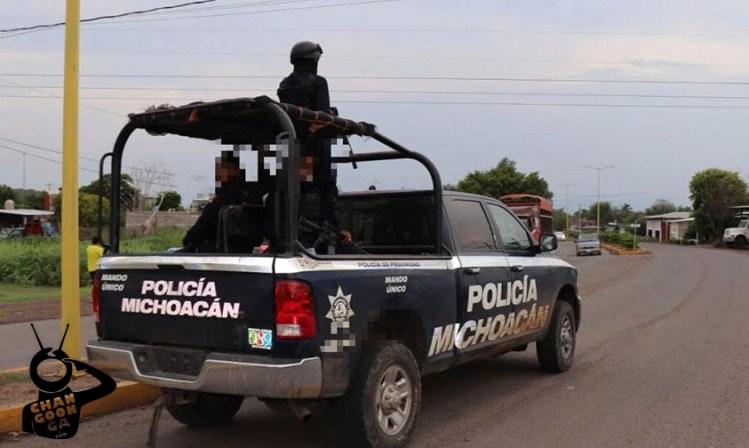 balacera Uruapan policía Michoacán