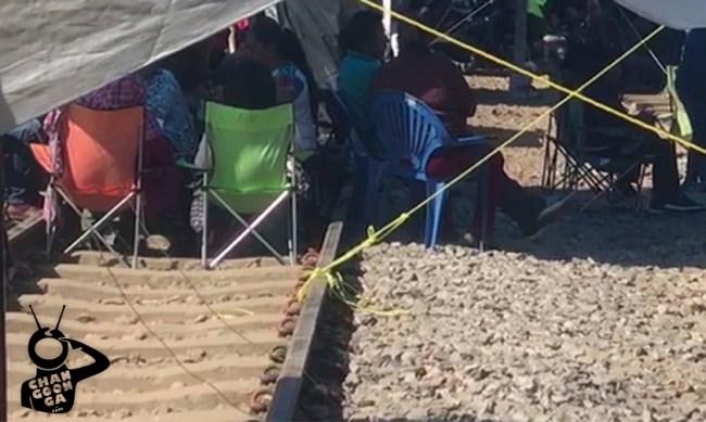 centistas radicales vías férreas Michoacán