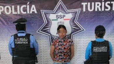 La mujer quedó a disposición de las autoridades del Ministerio Público, y la menor quedó bajo el cuidado del DIF