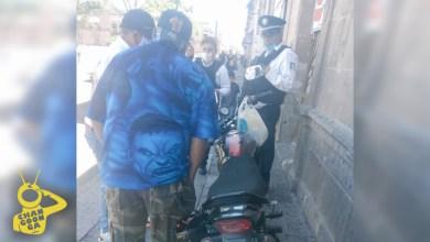 #Morelia Policía Multa A Cuate Que Estacionó Su Moto A Media Banqueta