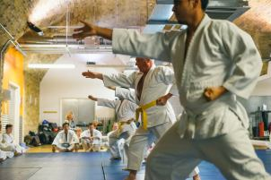 Martial art grading at London Hapkido school