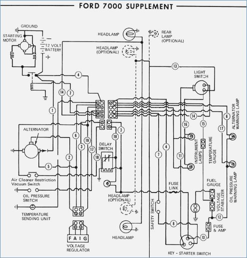 7000 ford tractor wiring diagram  metal fuse box  fords8n