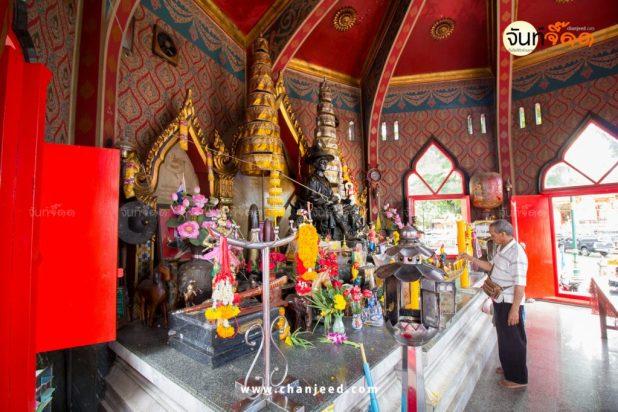 บริเวณภายใน ศาลสมเด็จพระเจ้าตากสินมหาราช สถานที่ท่องเที่ยว จันทบุรี
