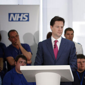 Nick Clegg proposing to dumb down the NHS reforms