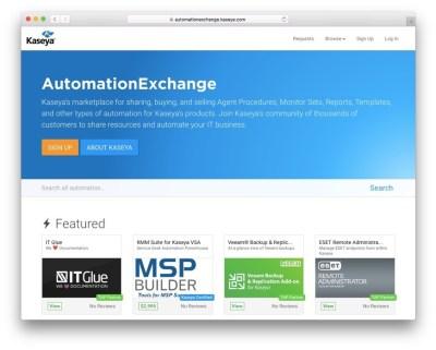 kaseya-exchange-screenshot