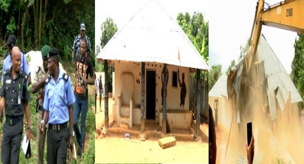 Police Demolish Shrines In Ikorodu