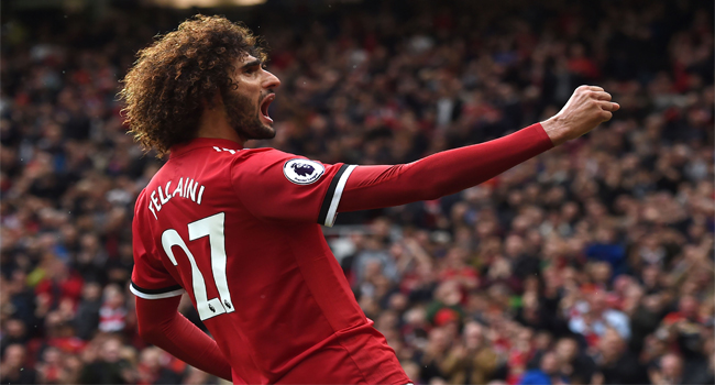 Manchester United manager Jose Mourinho praises Marouane Fellaini for toughing it out